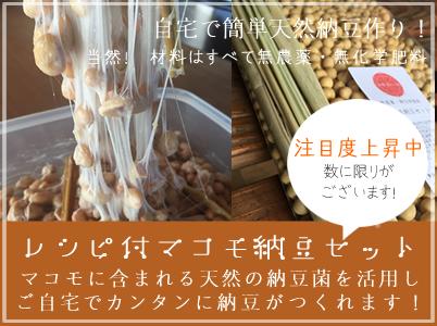 無農薬マコモ納豆セット販売