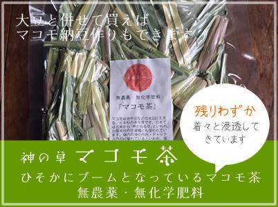 無農薬ササシグレマコモ茶販売